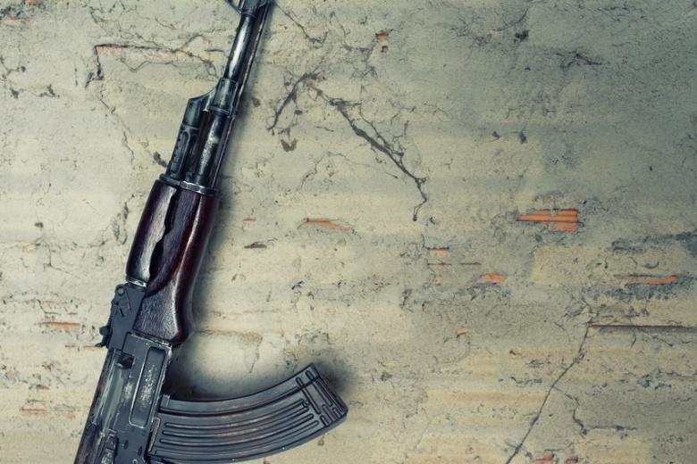 old submachine gun  kalashnikov  AK-47