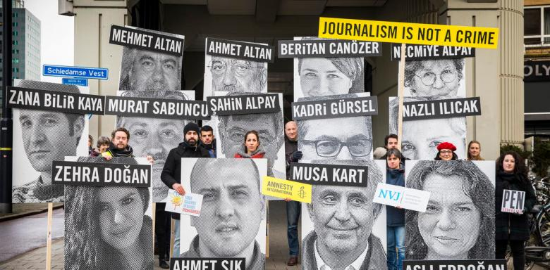 Action at the Turkish Consulate in Rotterdam